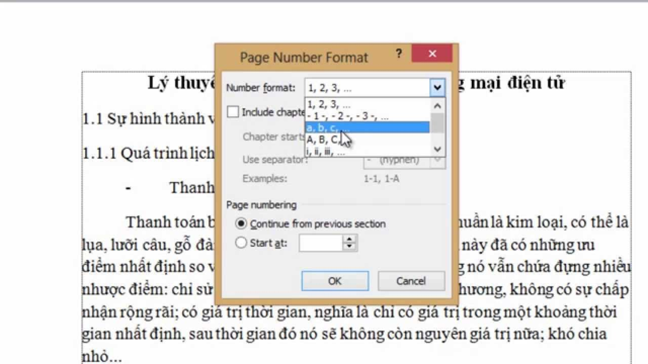 Cách đánh số trang tự động trong Word 2010