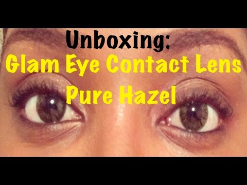 unboxing glam eye pure hazel color contact lens part 1 youtube