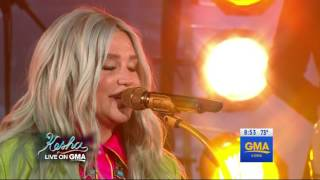 Kesha - Woman (Live) (feat. The Dap-Kings Horns) (Live on Good Morning America 08-09-2017)