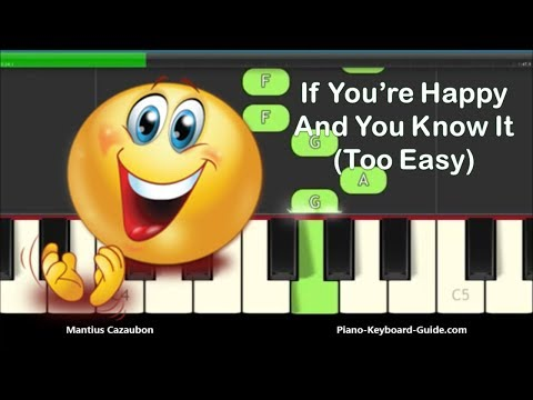 If You're Happy And You Know It Right Hand Slow Easy Piano Tutorial