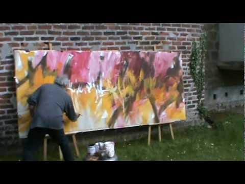 """Music painting réalisée par Gérard BESSET, sur """"My favorite thing"""" de John Coltrane et Erik Dolphy,"""