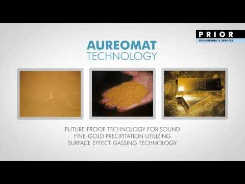 AUREOMAT for 4N and 5N gold refining (surface effect gassing technology)