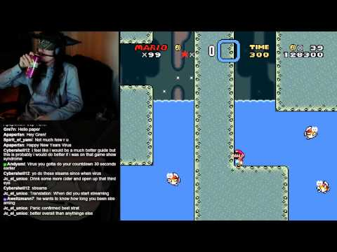 Blindfolded Super Mario World - Panic is the solution to all our problems