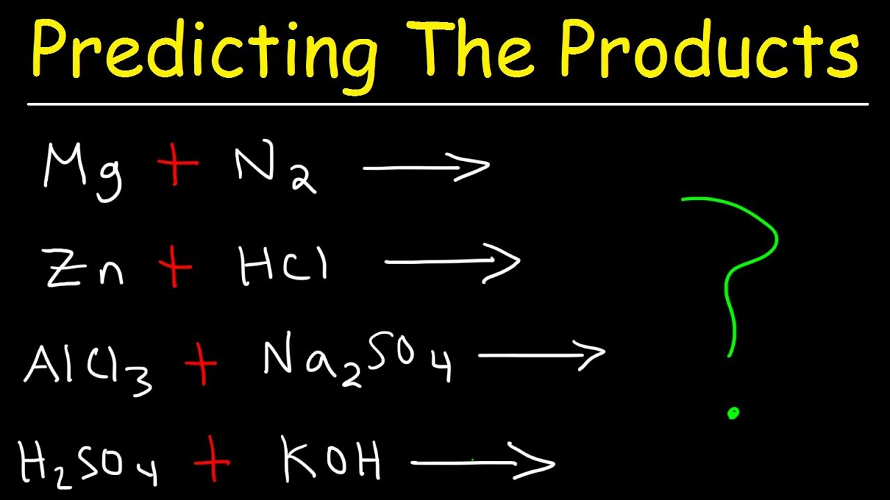 Predicting The Products Of Chemical Reactions Chemistry Examples