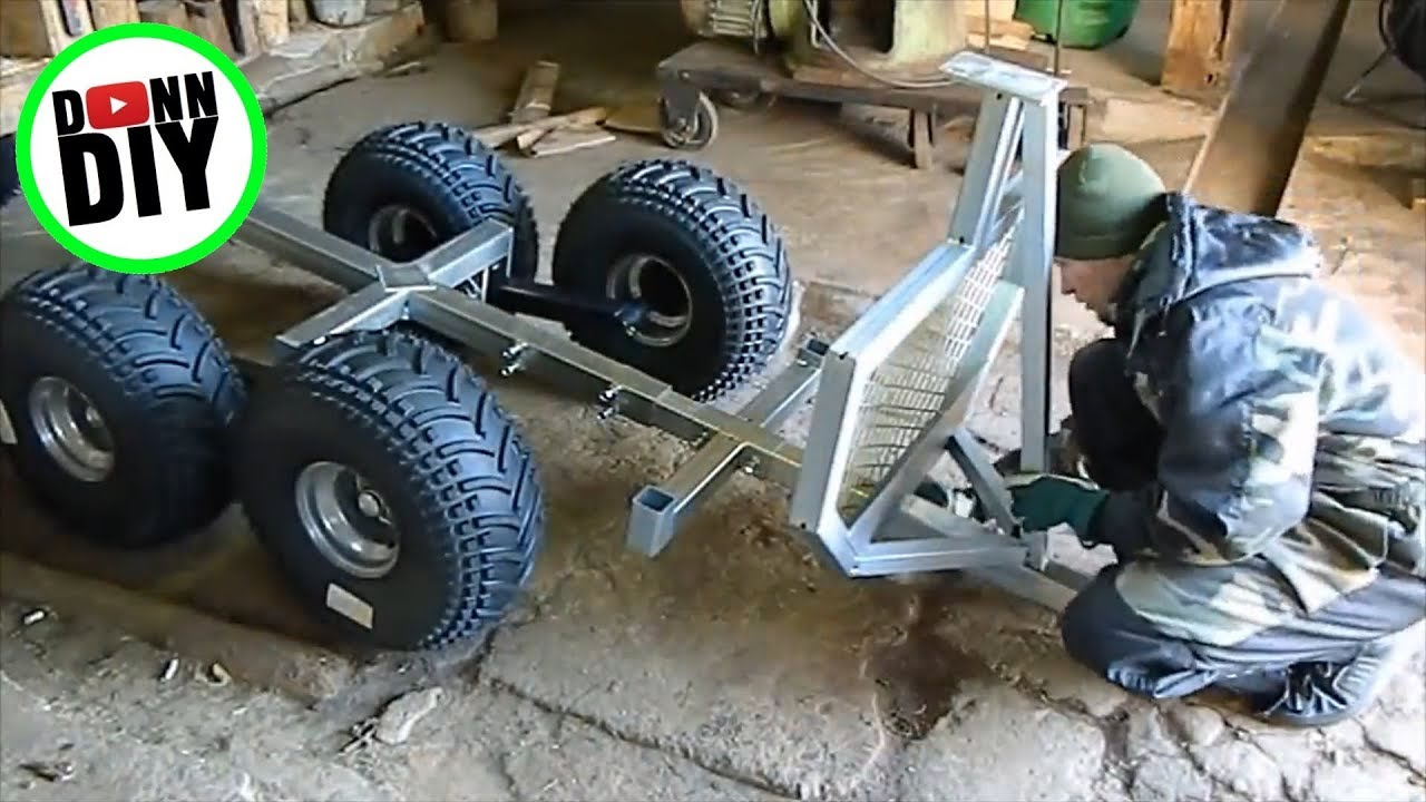 Atv Timber Trailer Assembly Time Lapse Youtube