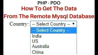 How To Get MySQL Data Into DropDown In PHP PDO Using Prepare Method
