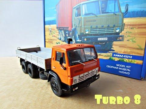 КамАЗ 53212 контейнеровоз от AVD Models (сборная модель 1:43)Kamaz 53212 AVD Models