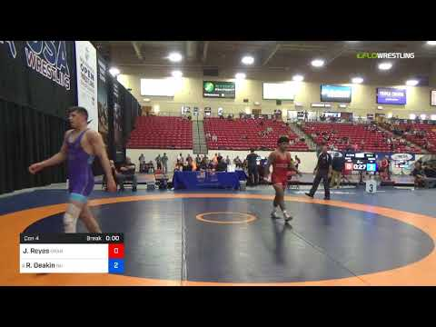 2018 Marine Corps US Open/Senior Men's Freestyle 70 Con 4 - Josh Reyes (Oran) Vs. Ryan Deakin (NU)