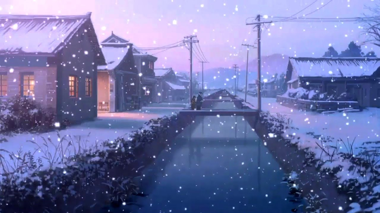 AMV - Winter (Beautiful Anime Scenery) First Snow - YouTube