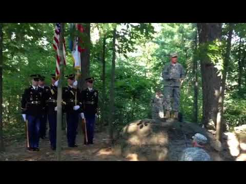 Gen. Frank Grass, chief of the National Guard Bureau, speaks at Gettysburg
