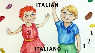 Learn To Count From 1 to 20 In Italian - (Italiano) With Dag and Scout