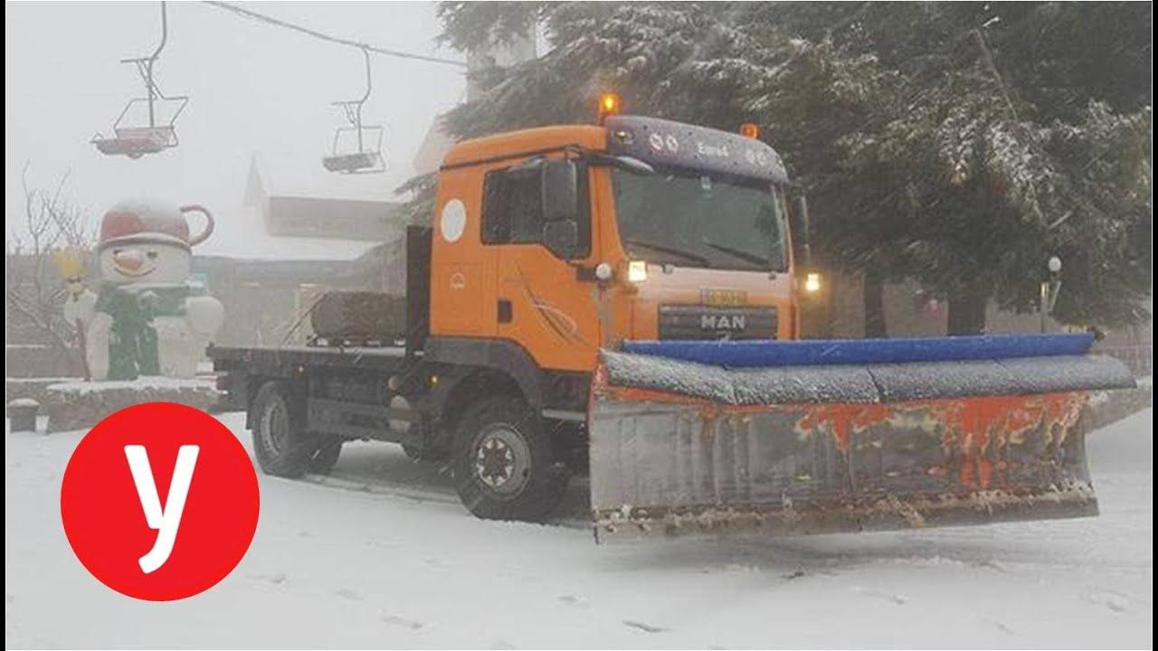 מזג אוויר חורפי: שלג בהר החרמון