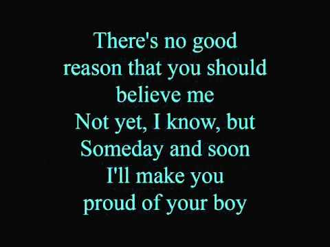 Proud of your boy - lyrics