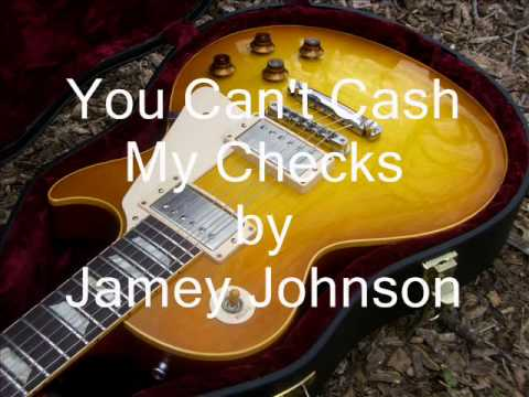 You Can't Cash My Checks (cover)