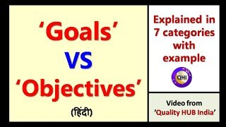 Goals Vs Objectives - Difference explained in 7 categories with example