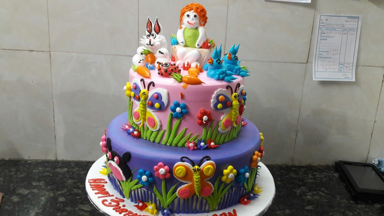 How To Make Birthday Fancy Cake Two Step Butterfly Animals
