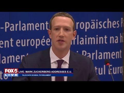 FOX 5 LIVE: Zuckerberg addresses EU Parliament on data scandal; Trump meets with Korean president