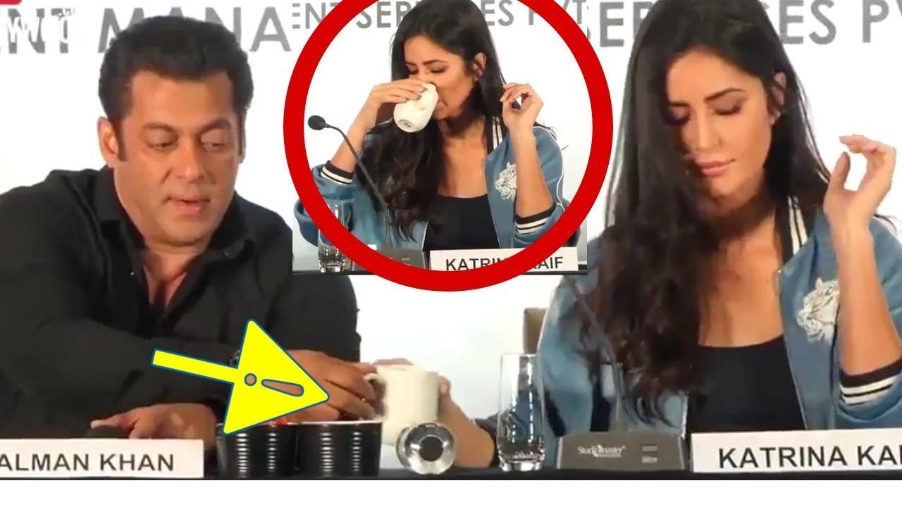 Salman Khan Shares His Coffee With Katrina Kaif At Da -6932