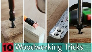 10 Woodworking Tricks And Tips || Woodworking Ideas