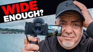 Sony ZV1 Camera -  Is the lens wide enough to vlog with?
