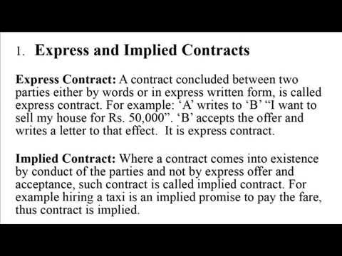 Types Of Contracts Youtube