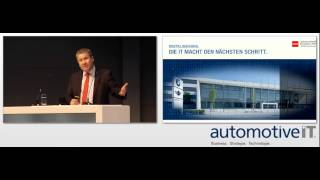 automotiveIT-Kongress 2015: Klaus Straub (BMW)