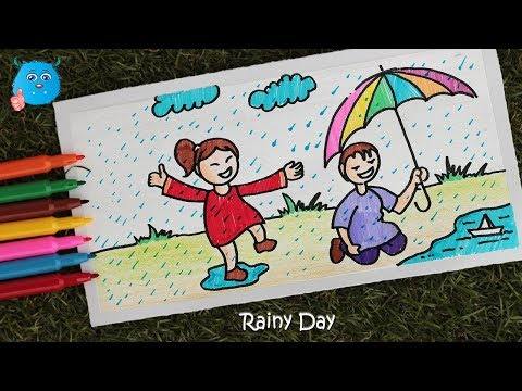 how-to-draw-scenery-of-rainy-season-easy-drawing-for-kids-with-pencil-color