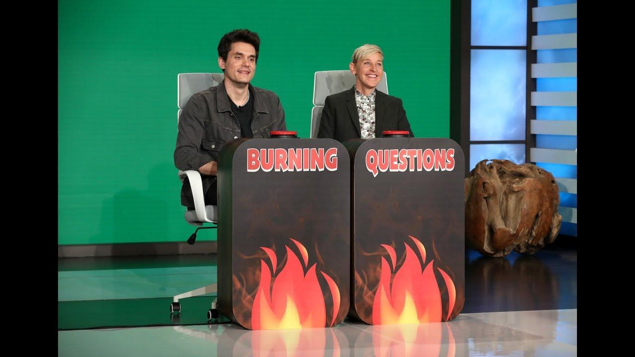 John Mayer Answers Ellen's 'Burning Questions' - YouTube