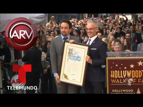Lin-Manuel Miranda recibió su estrella en Hollywood | Al Rojo Vivo | Telemundo