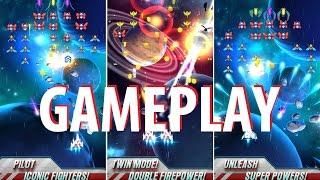 Galaga Wars Gameplay (By BANDAI NAMCO Entertainment Europe) iOS / Android Video HD