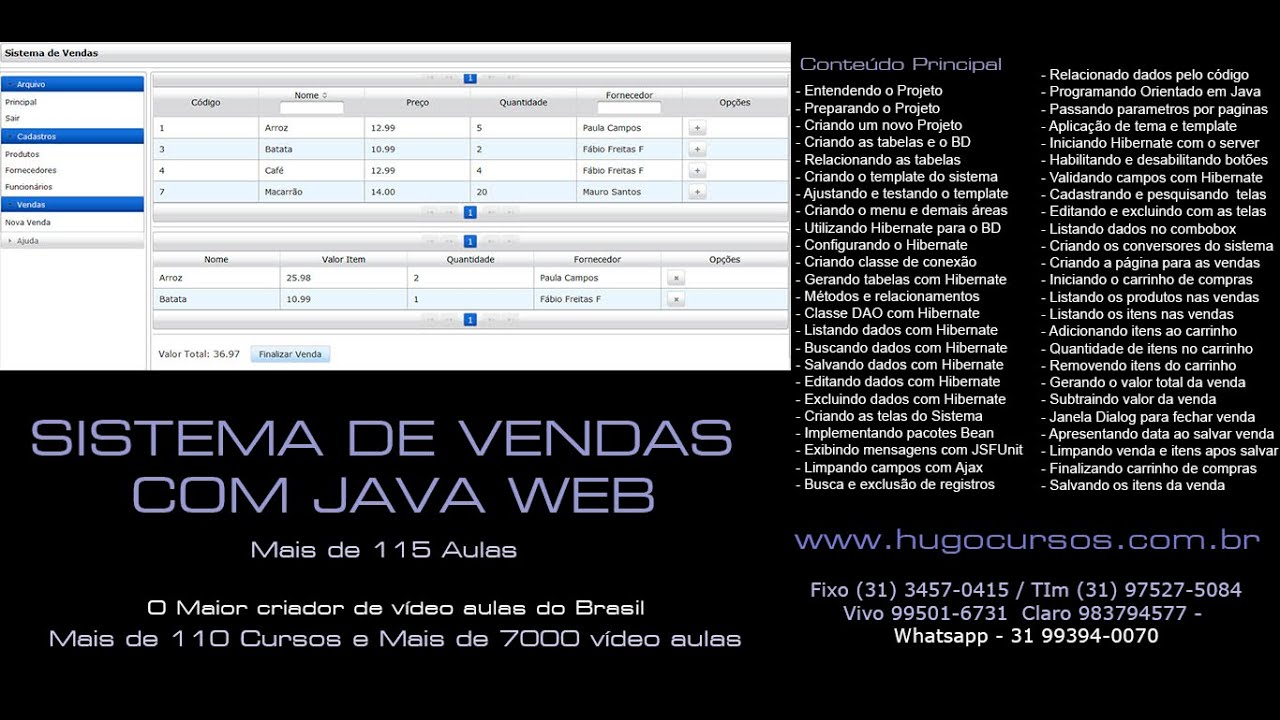 170536edb Sistema de Vendas Java WEB - Aula 01 - Sistemas com Carrinho de Compras