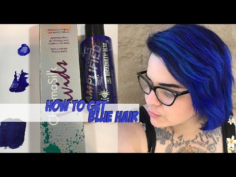 How To Get Blue Hair Pravana Vivids Manic Panic YouTube