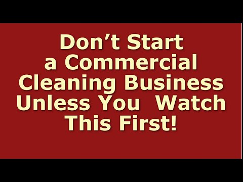 How To Start A Commercial Cleaning Business | Including Free Business Plan Template