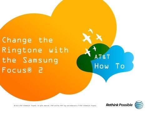 Change the Ringtone with the Samsung Focus® 2: AT&T How To Video Series
