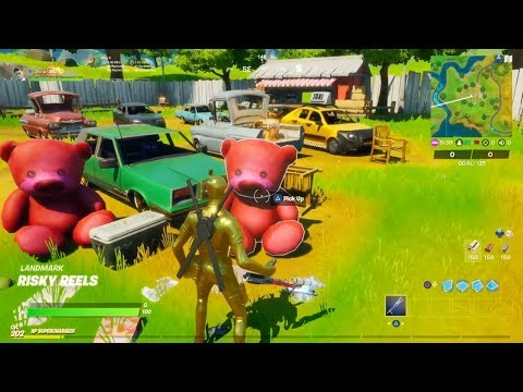 Fortnite - Carry A Giant Pink Teddy Bear 100 Meters (Midas Mission Challenges)