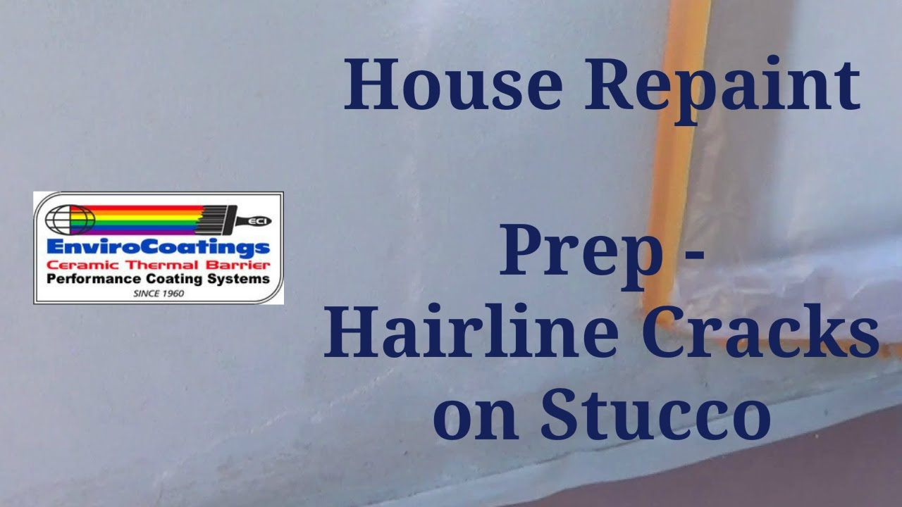 Stucco and Siding House Repairing Hairline Cracks on Stucco YouTube