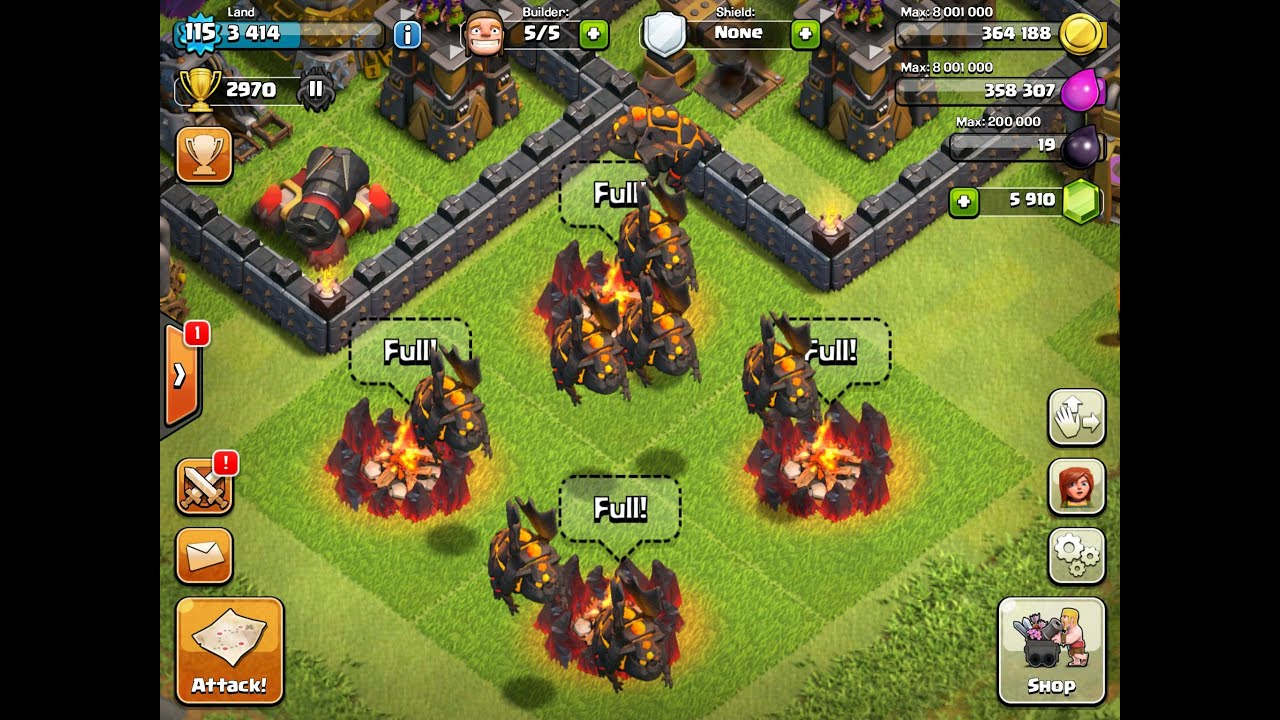 Clans mass lava hound raid how to attack with lava hounds youtube