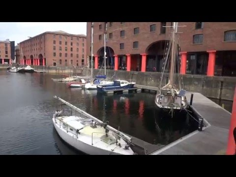 The UK Today - Walking Along The Albert Dock In Liverpool.May 2016