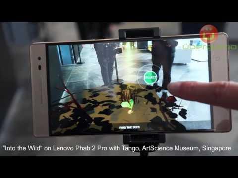 """Into the Wild"" virtual tour on Lenovo Phab 2 Pro with Tango - ArtScience Museum Singapore"