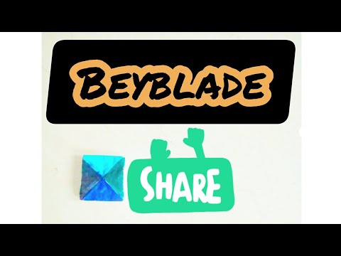 How to make paper beyblade without glue and tape