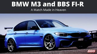 There's not a much more perfect pair than BMW and BBS.   The BBS FI-R Wheel in this video is a custom finish Diamond Silver with the blue BBS 3-D center cap to compliment the stunning blue color of the M3.  The BBS FI-R Wheel is a one-piece forged aluminu