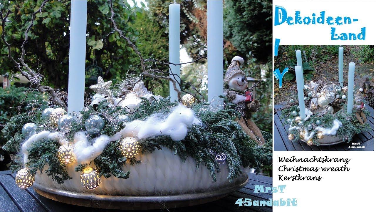 Diy adventskranz selber machen i wolle zapfen zweigen glaskugeln i advent wreath - Adventskranz selber machen youtube ...