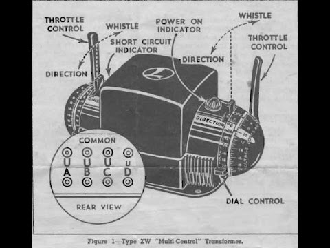 Lionel ZW Transformer Manual ~ Operating a Lionel ZW Transformer  YouTube