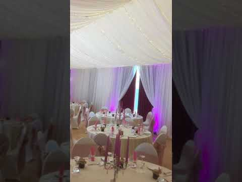 wedding venue draping