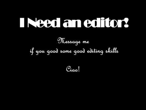 EDITOR WANTED
