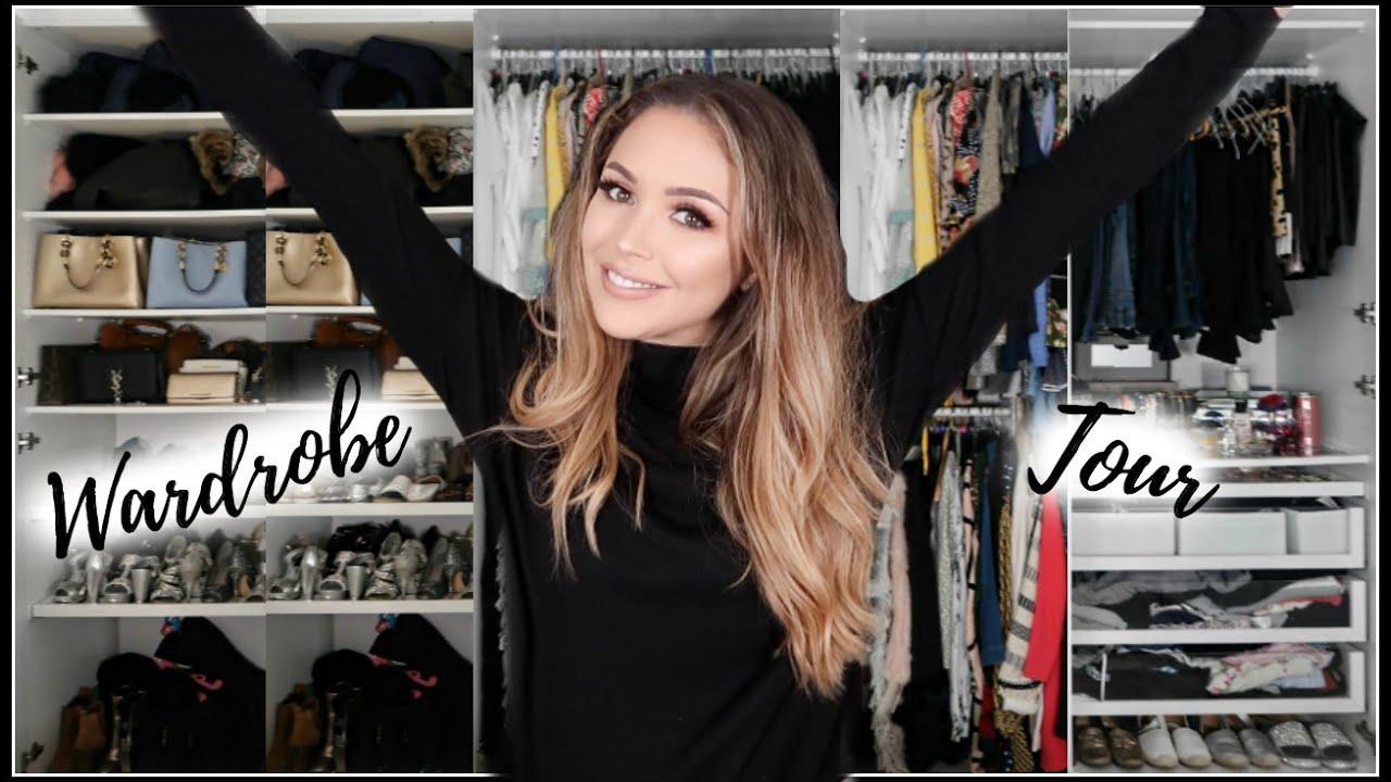NEW WARDROBE/CLOSET TOUR - IKEA PAX HACKS | LAURA SOMMERVILLE - YouTube