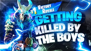 GETTING KILLED BY THE BOYS IN A RANDOM MATCH | Fortnite Battle Royale