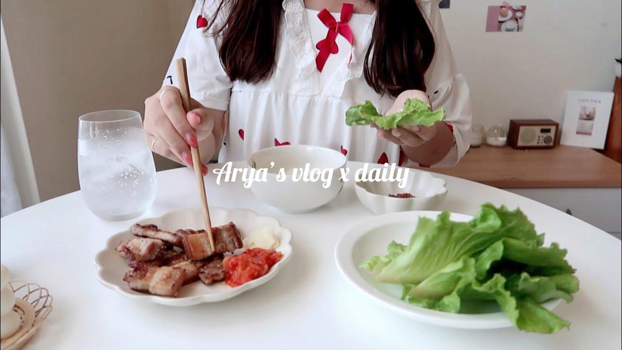Vlog#51 日常🍻 千拌麵、韓式烤肉、蒜香蝦🦐 蜂蜜檸檬🍋 下酒菜、仙湖農場