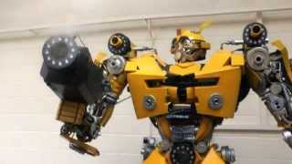 Transformer Robot Bumblebee fitted with fire jets, co2 jets,
