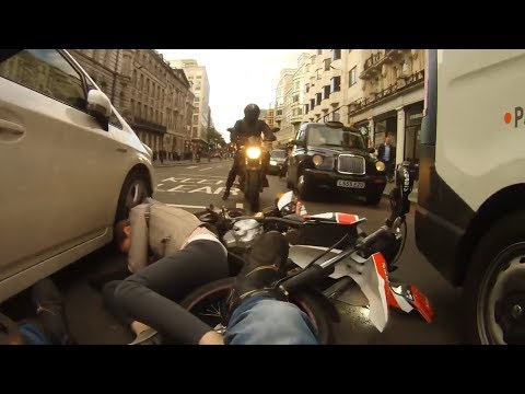 UK Stupid Drivers And Near Misses Vs Bikers #25